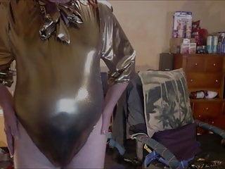 In vintage gold lame 039 bodysuit...