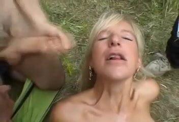 Amateur French sex group - outside sex - bukkake