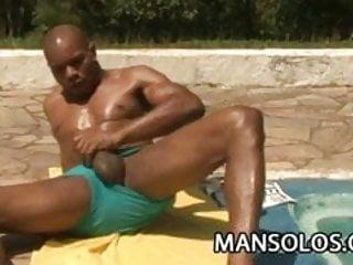 Muscular latin capoeira dude cock...