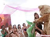 My gf rides stripper at bachelorette party