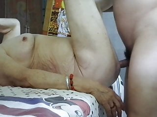 Chinese Granny with Saggy Tits
