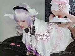 Asian sissy femboy having a orgasm  3