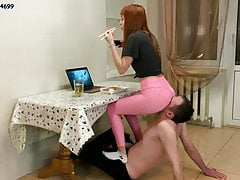 Human-Furniture and a Chair-Slave - Ignore Femdom For Kira