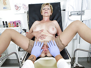 hairy fucked grandma doctor her by