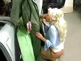 blonde granny fucked in garage