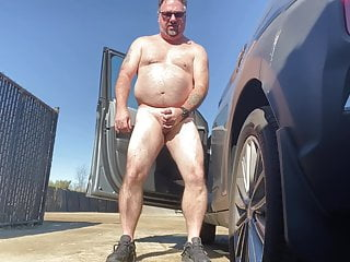 Luvbennude has fun outside