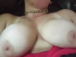 Guy films wife masturbating cock...