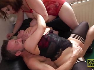 PASCALSSUBSLUTS – Lucia Love Stocks Grasp Dick In BDSM 3way