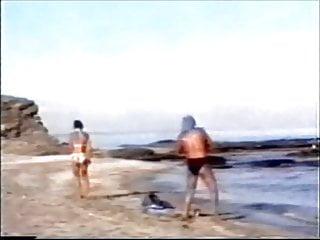 Bikini bottom yanked off by a fishing rod