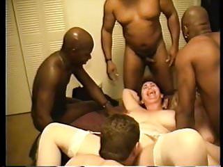 Cuckold wives interracial cluster fuck...
