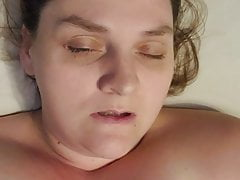Sexy MILF Cums All Over Husband's Face
