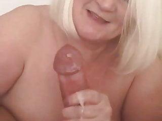 Granny 039 hand makes cock erupt...