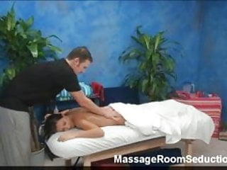 Busty Teen Seduced on Massage Table