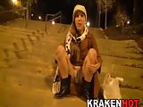 Cute young girl public exhibitionist