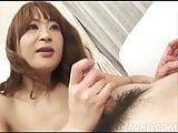 Cock hungry Hikaru Wakabayashi on her knees sucking dick