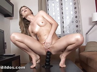 Many squirting orgasms with dildo...