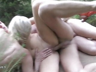 Mature groupsex in the woods