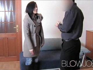 Blowjob facial for student...