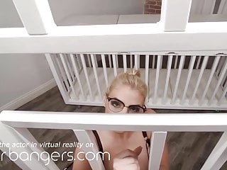 VR BANGERS Interrogated By Busty Blonde With Red Lips