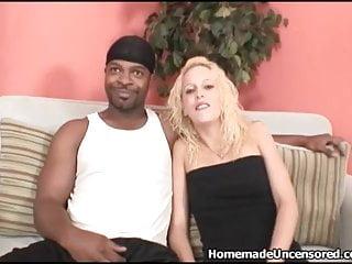 Black stud rides fit white blonde amateur pussy...