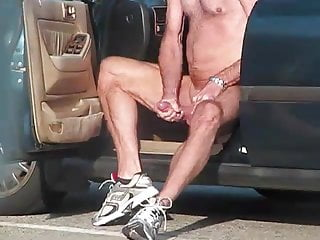 Caught jacking off with cum...