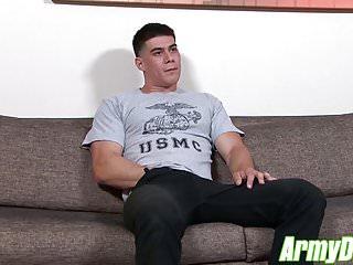 Hot ass zach with muscular body jerking his...