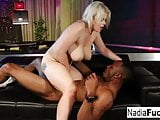 Nadia White takes a black BBC in her tight cunt and wet warm