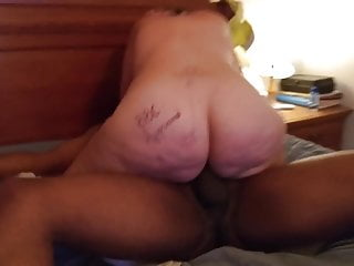 White woman rides bbc hard and deep mom...