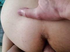 Hung daddy fucks young latino