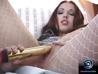 Passionate dildo fuck and sex with the brunette...