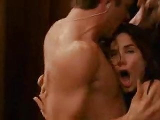 sandra bullock goes out of shower and...