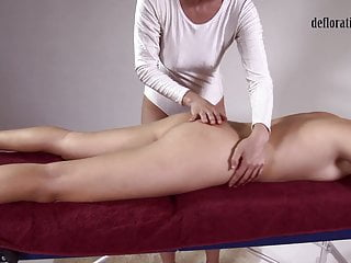 Jankovska gets her feet and ass massaged...