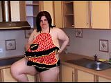 BBW kitchen mature plays