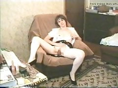 Janet Sprice dildoing her pussy part two