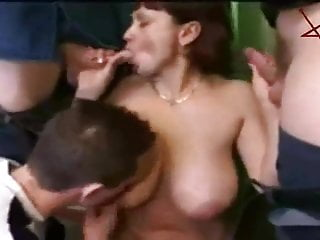 Russian Teens Group Sex with Mature Mother
