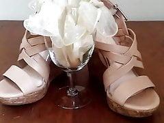 Carol's Heels with cup of condoms