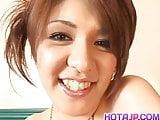 Mina Nakano has juicy boobies out of bra