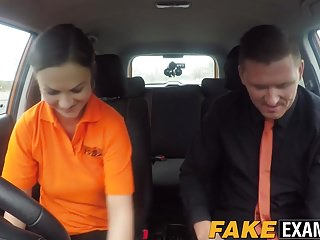 Hottie Tina Kay gives her driving instructor an amazing BJ