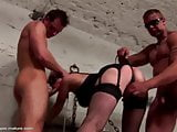 Mature mommy gets two cocks anal and creampie