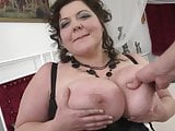Mature BBW mom gets nice sex with young boy