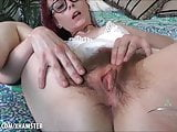 Ivy Addams playing with her hairy wet pussy & squeezing ass