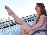 Scorching Video-An Sudden Meet With BECKY'S Attractive FEET By The Sea