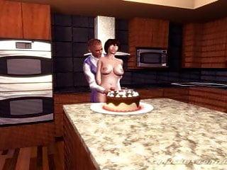 Transvestite on Schoolgirl your Cums cake birthday