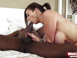 her enjoy COCK BIG Milf first BLACK
