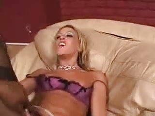Hot Chelsea in Lingerie Interracial