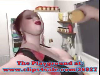 Bbw nadia obese in the kitchen...