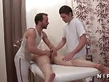 Amateur Mature double penetrated in a massage room