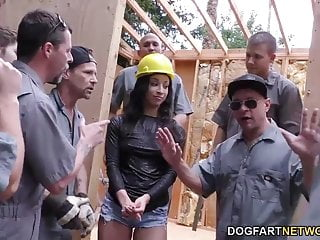 Teanna Trump gets gangbanged on a construction site