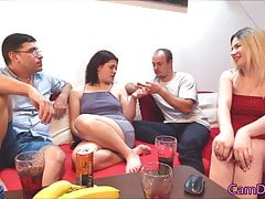 Two wives put small vibrator inside pussy