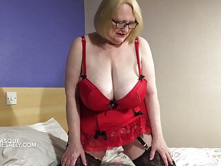 Sally teases in her new red basque